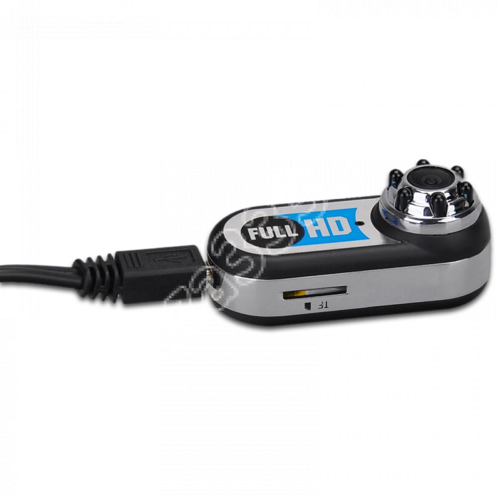 Мини камера Ambertek MD98 HD 1080p с ночной подсветкой, датчиком движения и углом обзора 170°